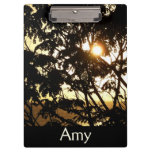 Sunset Through Trees I Tropical Photography Clipboard
