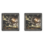Sunset Through Trees I Tropical Photography Cufflinks