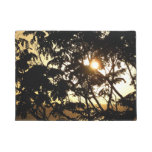 Sunset Through Trees I Tropical Photography Doormat