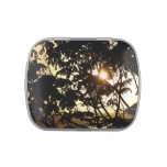 Sunset Through Trees I Tropical Photography Jelly Belly Tin