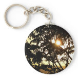 Sunset Through Trees I Tropical Photography Keychain