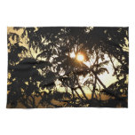 Sunset Through Trees I Tropical Photography Kitchen Towel