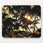 Sunset Through Trees I Tropical Photography Mouse Pad