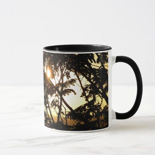 Sunset Through Trees I Tropical Photography Mug