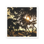 Sunset Through Trees I Tropical Photography Paper Napkin