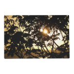 Sunset Through Trees I Tropical Photography Placemat