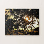 Sunset Through Trees I Tropical Photography Puzzle