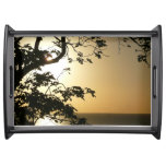 Sunset Through Trees I Tropical Photography Serving Tray