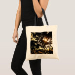 Sunset Through Trees I Tropical Photography Tote Bag