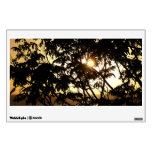 Sunset Through Trees I Tropical Photography Wall Decal