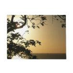Sunset Through Trees II Tropical Photography Doormat