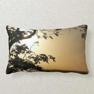 Sunset Through Trees II Tropical Photography Lumbar Pillow