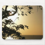 Sunset Through Trees II Tropical Photography Mouse Pad