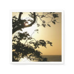 Sunset Through Trees II Tropical Photography Paper Napkin