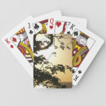 Sunset Through Trees II Tropical Photography Playing Cards