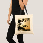 Sunset Through Trees II Tropical Photography Tote Bag