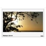Sunset Through Trees II Tropical Photography Wall Sticker