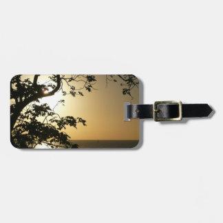 Sunset Through Trees Luggage Tag