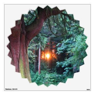 Sunset Through Trees Wall Sticker