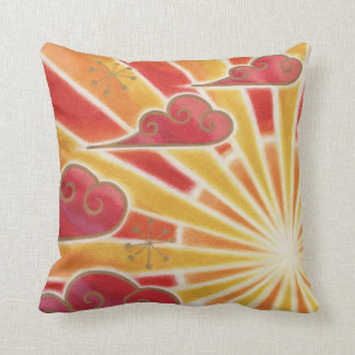 Sunset throw pillow square