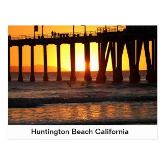 Sunset thru the Pier Postcard