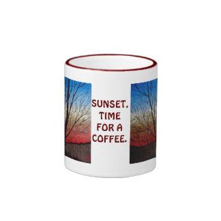 Sunset thru' trees mug
