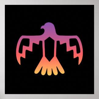 Sunset Thunderbird Poster