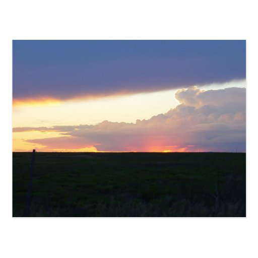 Sunset Thunderhead Post Card