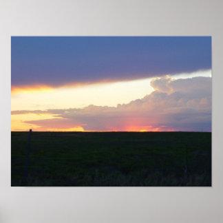 Sunset Thunderhead Poster