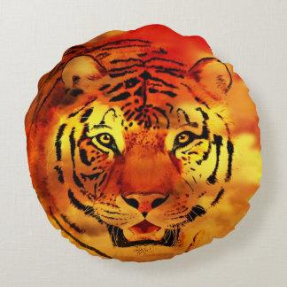 Sunset tiger round pillow