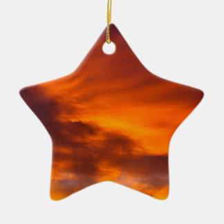 Sunset Tigger Sky Ceramic Ornament