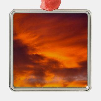 Sunset Tigger Sky Metal Ornament