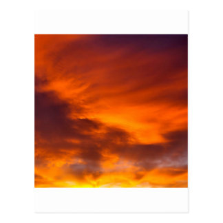 Sunset Tigger Sky Postcard