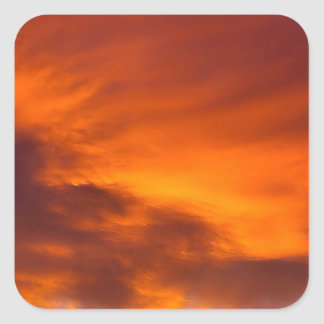 Sunset Tigger Sky Square Stickers