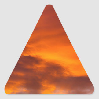 Sunset Tigger Sky Triangle Stickers