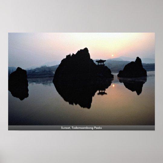 Sunset, Todamsambong Peaks Poster