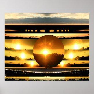 SUNSET Toronto by Naveen - Canvas Platinum Gloss print