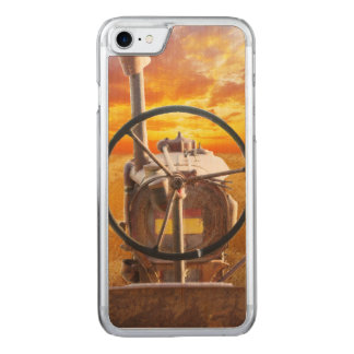 Sunset Tractor Design Carved iPhone 8/7 Case
