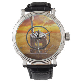 Sunset Tractor Design Wrist Watches