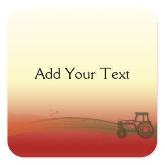 Sunset Tractor Sticker