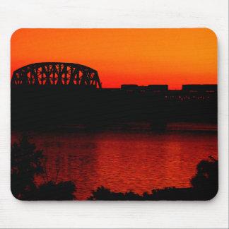 Sunset Train Ride Mousepad