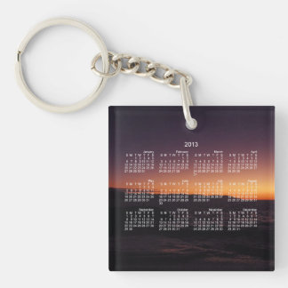 Sunset Transition; 2013 Calendar Single-Sided Square Acrylic Keychain
