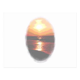 Sunset Transparency Postcard
