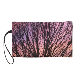 Sunset Tree Bagette Wristlet Clutches