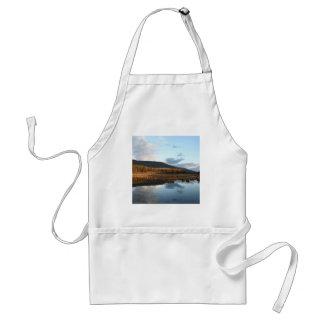 Sunset Tree Lake Reflection Adult Apron