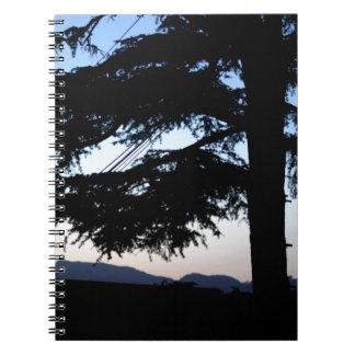Sunset Tree Notebook