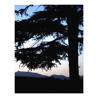 Sunset Tree Personalized Letterhead