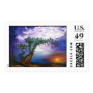 Sunset Tree Postage