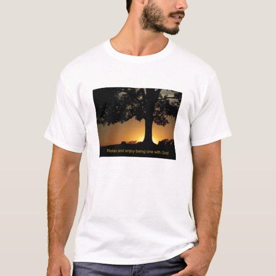 sunset tree quote T-Shirt