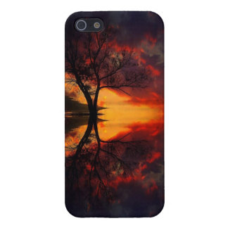 Sunset Tree Reflection iPhone Cover